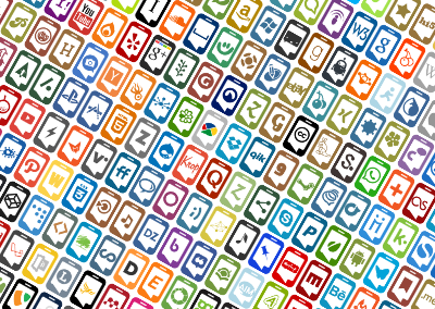 Social Media Icons (Mobile Style)