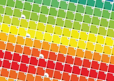 Box Spectrum Calendar